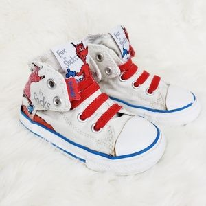 Converse Dr Seuss Fox In Sox High Tops Infant 7